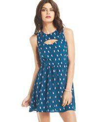 Keds - Juniors Heartprint Cutout Aline Dress - Lyst