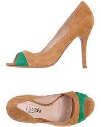 Lauren by Ralph Lauren Pumps With Open Toe - Lyst