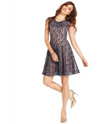 Mm Couture - Shortsleeve High-neck Lace A-line - Lyst