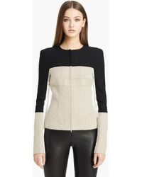 Narciso Rodriguez Stretch Linen Jacket - Lyst