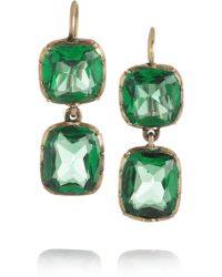Olivia Collings - 18karat Gold Cabochon Earrings - Lyst