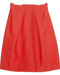 Roland Mouret Kava Stretch cotton Piqué Mini Skirt - Lyst