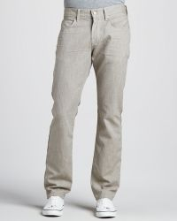 7 For All Mankind The Straight Twill Pants - Lyst