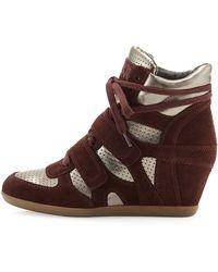 Ash Bea Wedge Sneaker - Lyst