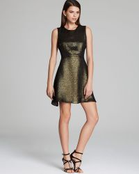 Charles Henry - Dress Metallic Jacquard Mesh - Lyst