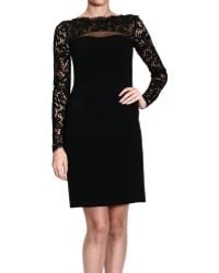 Emilio Pucci Dresses Long Sleeve Jersey with Lace On Top - Lyst