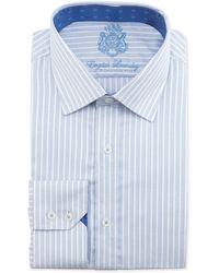 English Laundry Pindot Stripe Dobby Longsleeve Dress Shirt - Lyst