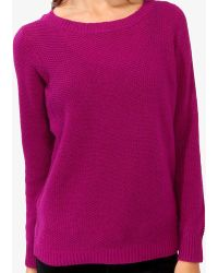 Forever 21 Chunky Waffle Knit Sweater - Lyst
