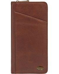 Fossil - Estate Leather Multi Passport Case - Lyst