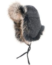 Hockley - Fabiola Wool and Fur Trapper Hat - Lyst