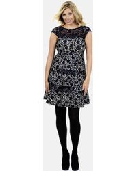 Kay Unger Lace Fit Flare Dress - Lyst