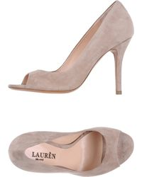 Lauren by Ralph Lauren Courts with Open Toe - Lyst