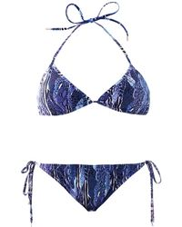 Matthew Williamson Escape | Exotic-Skin Camo-Print Bikini | Lyst