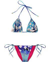 Preen By Thornton Bregazzi - Splash Print Bikini - Lyst