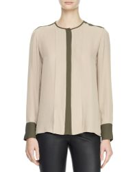Theory Edera Twotone Georgette Blouse - Lyst