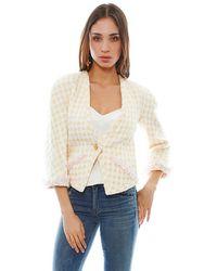 Chanel Sparkly Crop Jacket - Lyst
