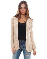 Chanel Beige Riding Jacket - Lyst