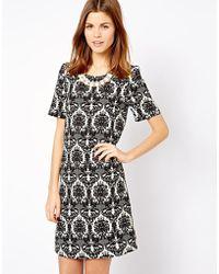 A Wear   Monochrome Printed Shift Dress   Lyst