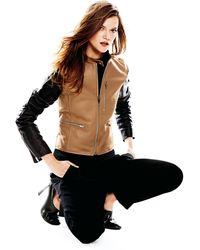 Neiman Marcus - Zip-Up Leather Moto Jacket - Lyst