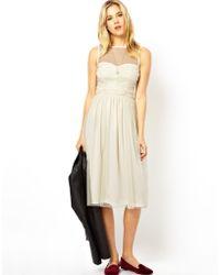 Asos Prom Mesh Midi Dress - Lyst