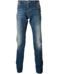 DSquared² Distressed Slim Fit Jean - Lyst