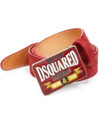 DSquared² Logo Belt - Lyst