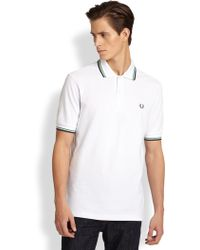 Fred Perry Twin Tip Pique Polo Shirt - Lyst