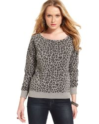 Guess Leopard Print Sweater - Lyst