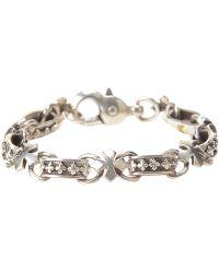 King Baby Studio Cross Link Bracelet - Lyst