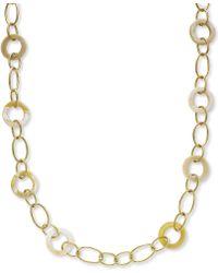 Lauren by Ralph Lauren -  Horn Oval Link Toggle Necklace - Lyst