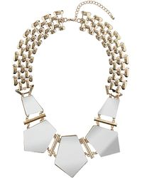 Topshop Mirror Shape Collar - Lyst