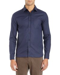 Alexander Olch - Basic Button Front Shirt - Lyst 27f890237