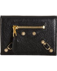 Balenciaga Arena Giant Gold Double Card Holder - Lyst