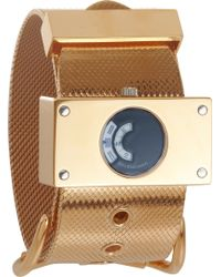Balenciaga - Montre Acier Rose Gold Watch - Lyst