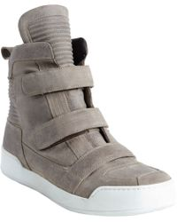 Balmain Oiled Laceless High Top - Lyst