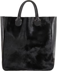 Barneys New York Mixed Material North South Tote - Lyst