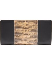 Barneys New York Top Zip Tejus Clutch black - Lyst