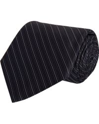 Barneys New York Thin Diagonal Stripe Tie - Lyst