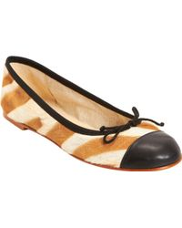 Collection Privée - Ponyhair Striped Ballet Flat - Lyst
