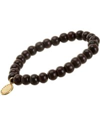 Devon Page Mccleary - Sandalwood Bead Bracelet With Diamond Serene Buddha Charm - Lyst