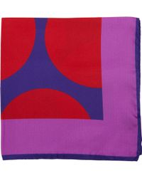 Duchamp Oversized Dot Print Pocket Square - Lyst
