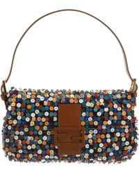 Fendi - Multicolour Beaded and Sequined Baguette Bag - Lyst