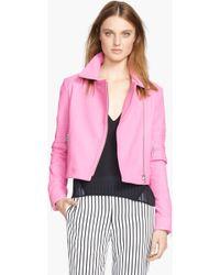 J Brand Aiah Leather Crop Jacket - Lyst