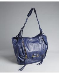 Kooba Cobalt Leather Zoey Flap Front Shoulder Bag - Lyst