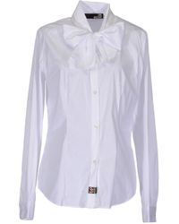 Love Moschino Long Sleeve Shirt - Lyst