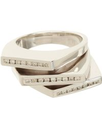 Lynn Ban - Diamond Stacked Deck Ring - Lyst