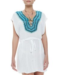 Milly Guadas Beadneck Coverup Tunic - Lyst