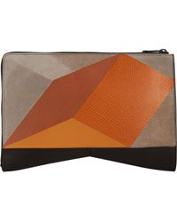 Narciso Rodriguez Intarsia Clutch - Lyst