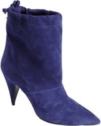 Pierre Hardy Suede Drawstring Ankle Boot - Lyst