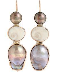 Sandra Dini - Pearl Shell Earrings - Lyst